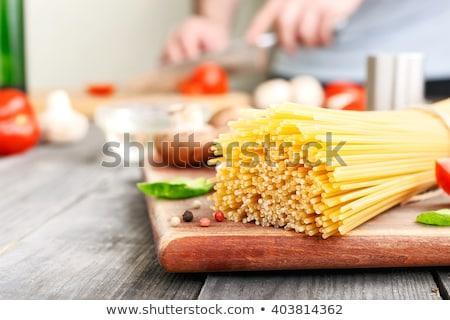 Italiaans spaghetti witte voedsel tarwe patroon Stockfoto © ultrapro