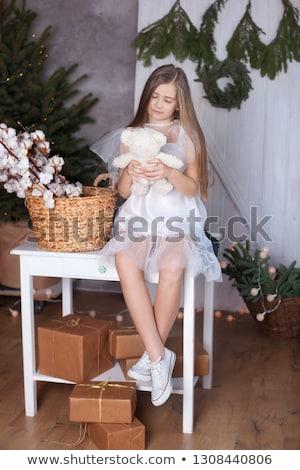 女性 · クリスマス · 装飾 · 画像 · 顔 · セクシー - ストックフォト © hasloo