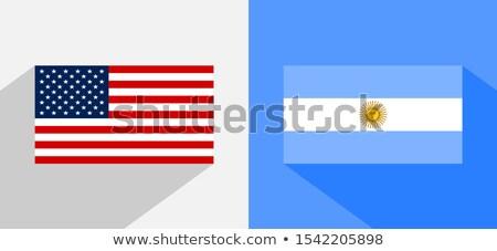 USA Argentinien Miniatur Fahnen isoliert weiß Stock foto © tashatuvango