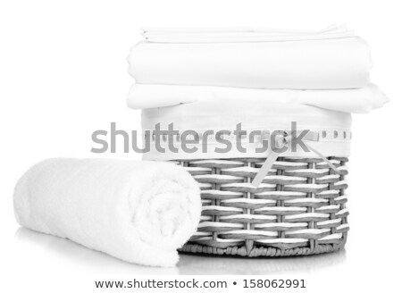 wicker basket covered with a towel Stock photo © GeniusKp