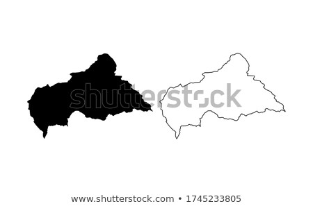silhouette map of central african republic stock photo © mayboro