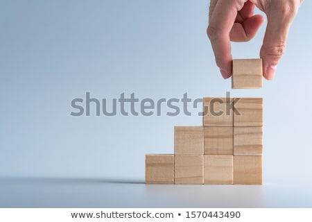 ahşap · küp · numara · inşaat · çocuk · oyuncak - stok fotoğraf © Ralko