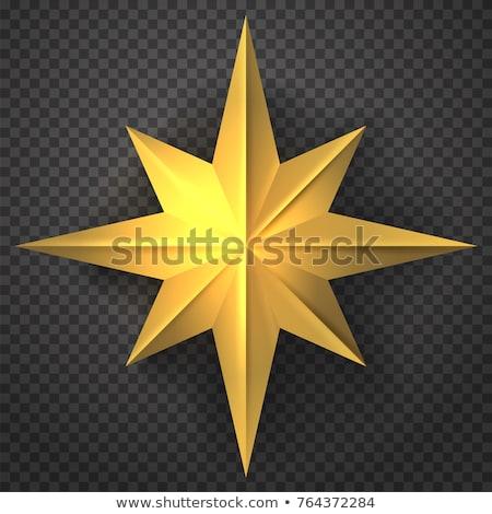 Beveled Gold Star Design Elements Stock photo © cteconsulting