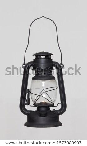 Stockfoto: Verouderd · lantaarn · decoratief · straat · details · blauwe · hemel