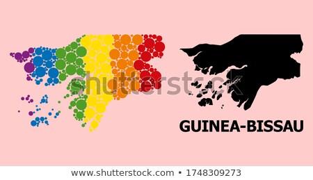 карта · республика · Гвинея · точка · шаблон · вектора - Сток-фото © istanbul2009