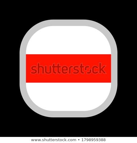 Vierkante sticker vlag Wit-Rusland geïsoleerd witte Stockfoto © MikhailMishchenko