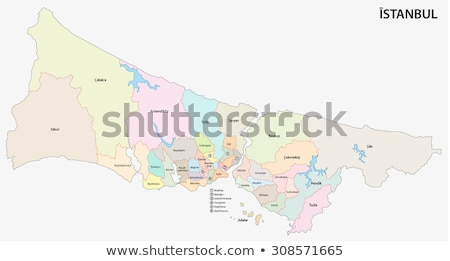 Istanbul Map with administrative districts where Kagithane is pu Stock photo © Istanbul2009