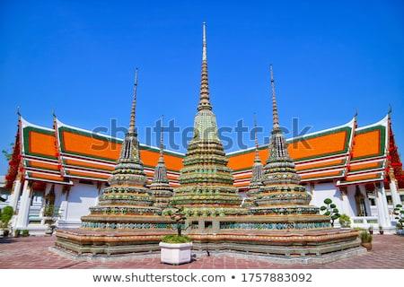 demônio · guardião · estátua · templo · decoração · Bangkok - foto stock © romitasromala