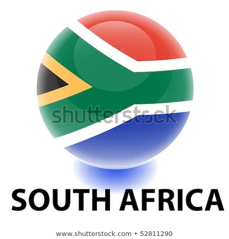 Narancs gomb kép térképek Dél-Afrika űrlap Stock fotó © mayboro