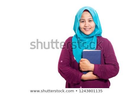 muçulmano · oração · noite · lua · fundo · estrelas - foto stock © elnur