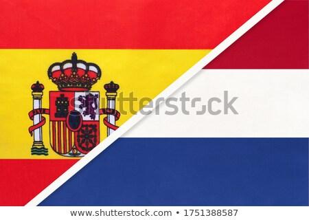 3D · サッカー · スペイン · オランダ · フラグ - ストックフォト © mhristov