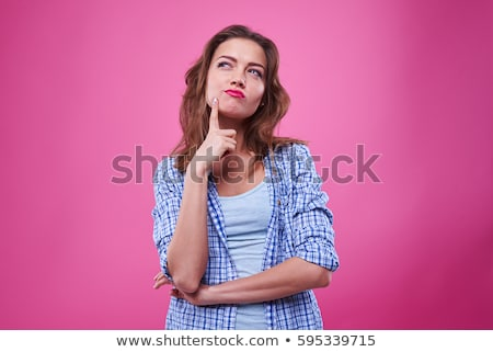 beautiful young woman thinking Stock photo © Giulio_Fornasar