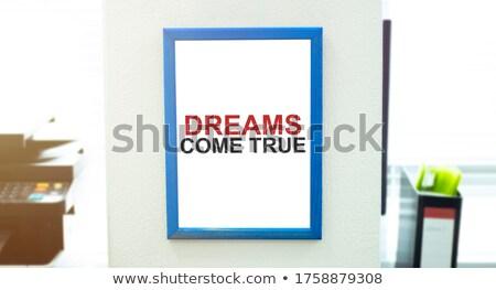 Dreams Concept with Word on Folder. Stock photo © tashatuvango