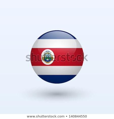 Icono bandera Costa Rica aislado blanco viaje Foto stock © MikhailMishchenko