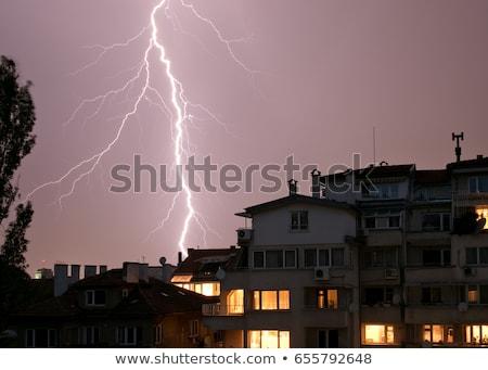 雷 建物 都市 空 市 光 ストックフォト © Juhku