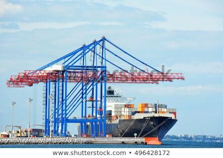 vracht · schepen · zee · zwarte · water · natuur - stockfoto © joyr