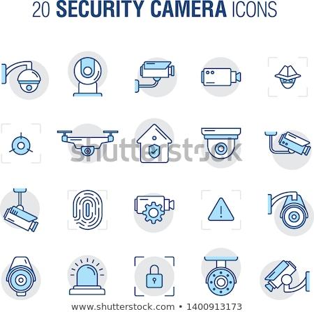 CCTV Sign Green Vector Icon Design Stock photo © rizwanali3d