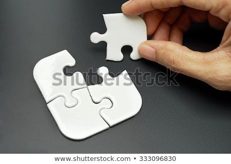 Smart puzzle miejsce brakujący sztuk tekst Zdjęcia stock © tashatuvango