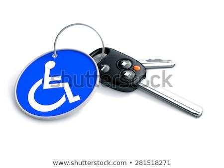 handicap · podpisania · upośledzony · wózek · dostęp · logo - zdjęcia stock © fuzzbones0