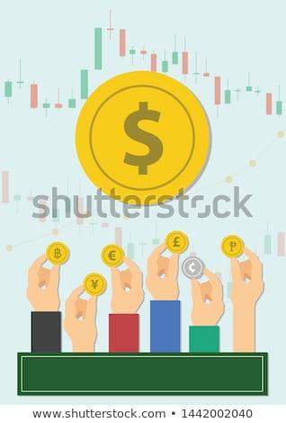 Büyük euro küçük cüzdan siyah beyaz paskalya yumurtası Stok fotoğraf © stickasa