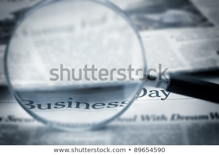 news word and magnifying glass stock photo © fuzzbones0