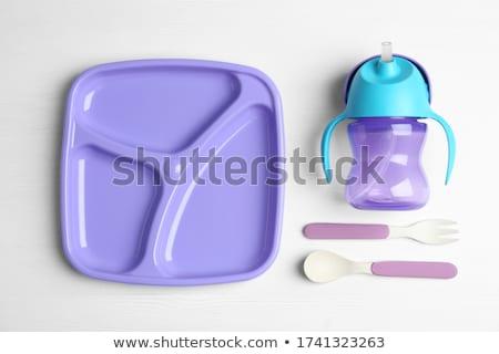 Empty white food tray Stock photo © netkov1