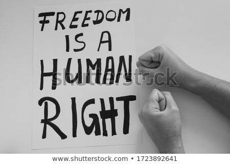 Freedom Of Speech Crisis Stock photo © Lightsource