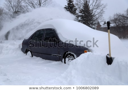 Snowy car Stock photo © Nneirda