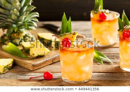 cocktail · glas · metaal · zomer · groene · bar - stockfoto © netkov1