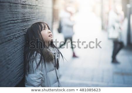 かわいい · 女の子 · 孤立した · 白 · 少女 - ストックフォト © deandrobot