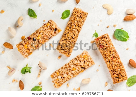 Stockfoto: Gezonde · voeding · honing · steen · melk · energie