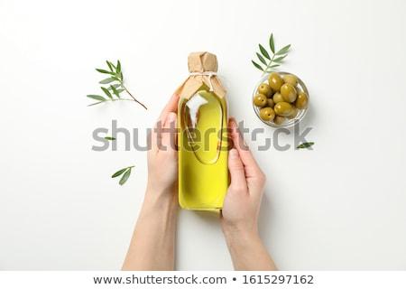azeitonas · vidro · jarra · branco · fruto · verde - foto stock © laky981