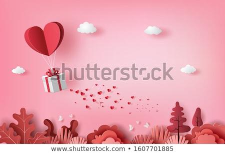 léggömbök · szívek · vásár · illusztráció · stílus · feliratok - stock fotó © MaxPainter