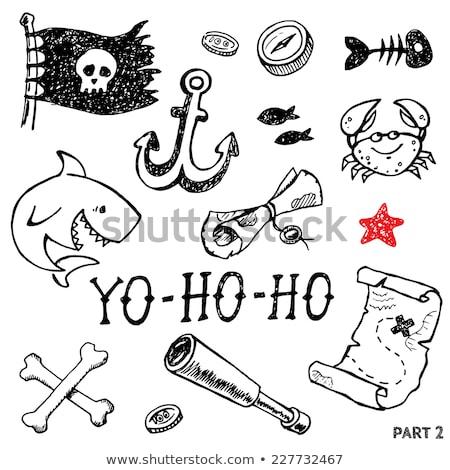 Doodle vector set of pirates Stock photo © netkov1