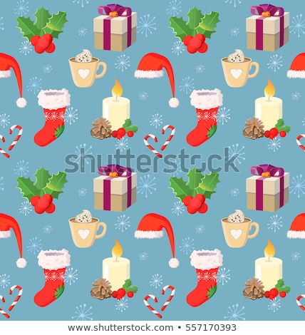 stylized christmas balls on beige eps 8 stock photo © beholdereye
