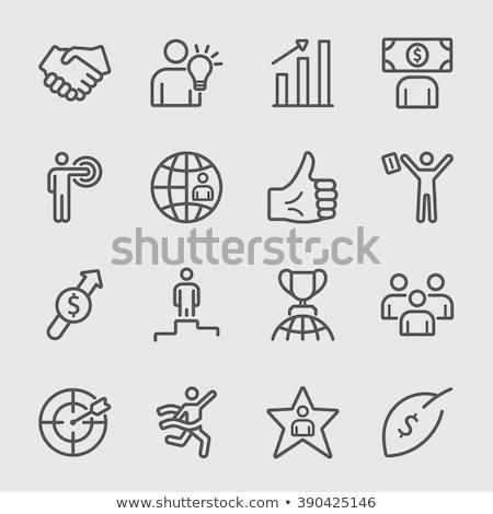 Gráfico de barras hoja línea icono web móviles Foto stock © RAStudio