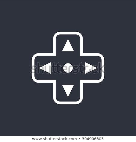jogo · vídeo · consolá · arte · vetor · gráfico · projeto - foto stock © vector1st
