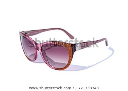 eski · plastik · çerçeve · gözlük · beyaz · moda - stok fotoğraf © franky242