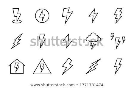 elektromosság · disztribúció · vektor · vonal · ikon · izolált - stock fotó © angelp