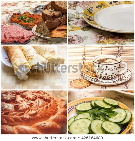 Six sliced loaves of various breads Stock photo © ozgur