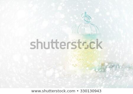 белый фонарь свет Рождества Сток-фото © dariazu