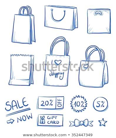 моде · скидка · линия · иллюстрация · сумочка - Сток-фото © liliwhite
