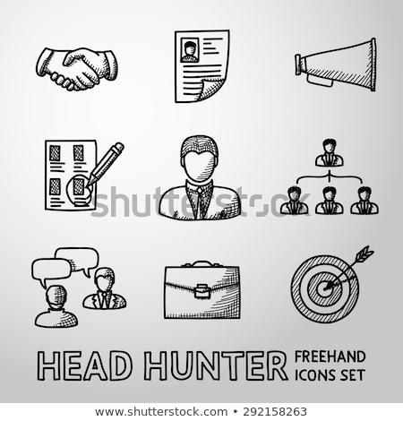 Jager schets icon vector geïsoleerd Stockfoto © RAStudio
