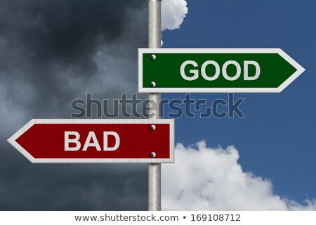 opposite words with bad and good stock photo © bluering