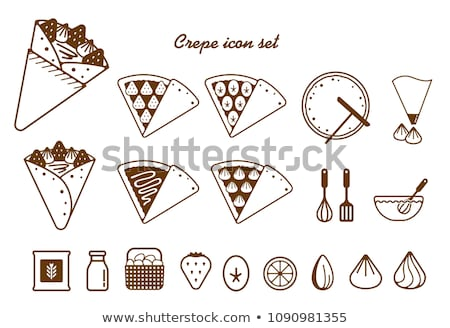 Crepe Icon Set Design Stock photo © sdCrea