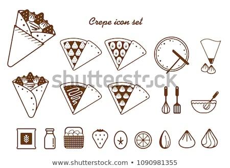 Crepe Icon Set Design Stock photo © sdCrea