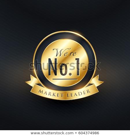 Geen markt leider gouden label badge Stockfoto © SArts