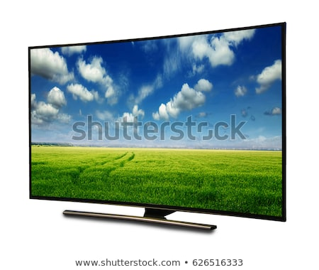 LCD TV with Nature Landscape on Screen Stock photo © robuart