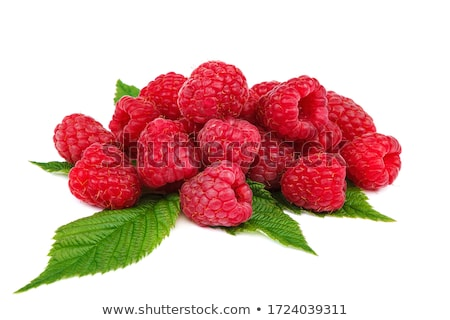 Fraîches framboises rangée fruits rouge ligne Photo stock © Digifoodstock