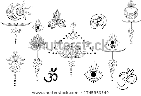 étnico mandala abstrato ornamento fractal vetor Foto stock © fresh_5265954